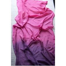 Hedvábná šála růžovofialová 90x180 mm