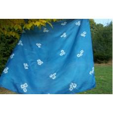 Hedvábný šátek modrý 90x90 mm