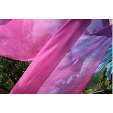 Hedvábná šála růžovofialová 45x180 mm
