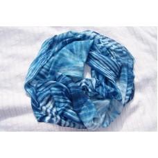 Hedvábná šála v odstínech modré 90x180 mm