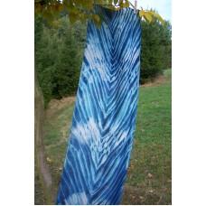 Hedvábná šála v odstínech modré 45x180 mm